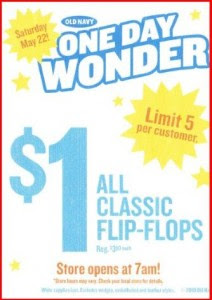 5dd80d96e903 Old Navy  Flip Flop only 1.00 at Old Navy May 22
