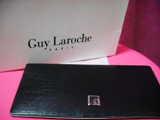 5546b9fb28e5 GUY LAROCHE PARIS BLACK LONG WALLET