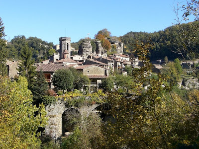 Medieval village of Rupit in Catalonia