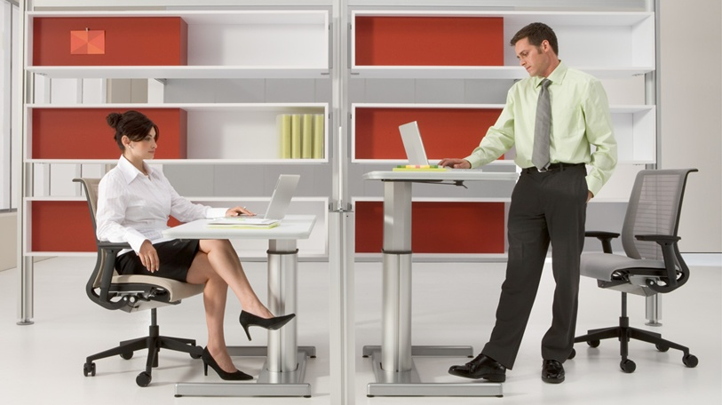 The Desk Has 2 Basic Components Adjule Foot And Work E It Is Very Easy To Adjust Can Go From Sitting Standing In Just 1