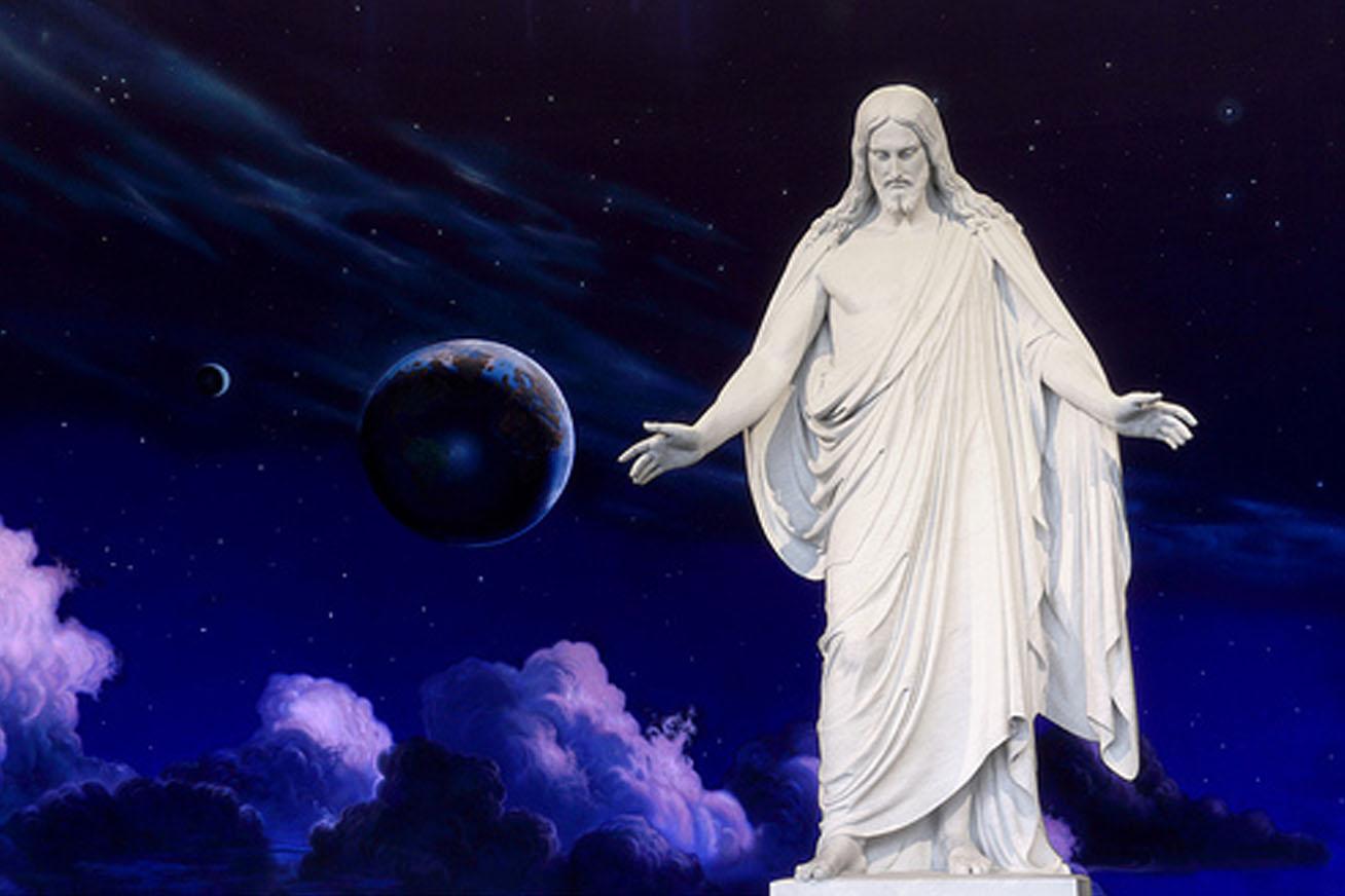 Statue Jesus Christus, Salt Lake City, USA