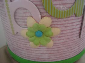 flower embellished formula can for childs bank