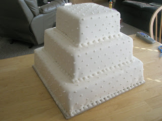 Fondant Wedding Cake-How to and Recipe