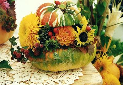DEKORATION  FLORISTIK Deko Ideen fr den Herbst