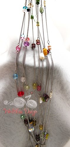 Mixed gemstones long necklaces