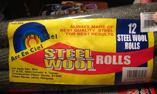 steel wool from a supermarket