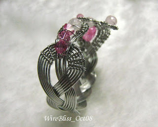 Facing the Cobra - braided wire cuff