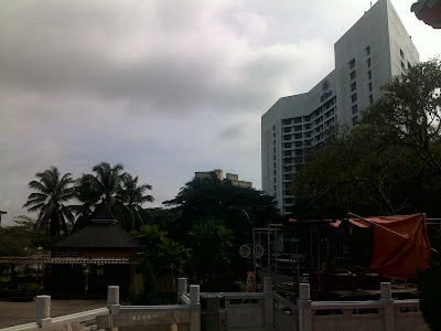 The Hilton at the background - Tua Pek Kong, one of the oldest temple/building