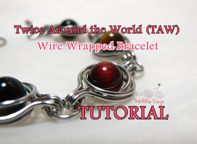 Twice Around the World (TAW) Wire Wrapped Bracelet Tutoria