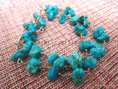 wire wrapped turquoise bracelets