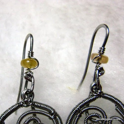 Wire Wrapped/Coiled Earrings - Fruity