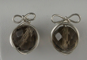 Wire wrapped studs earrings by Don