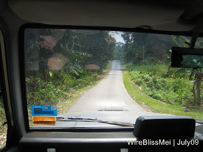 road leading to Sg Semadang