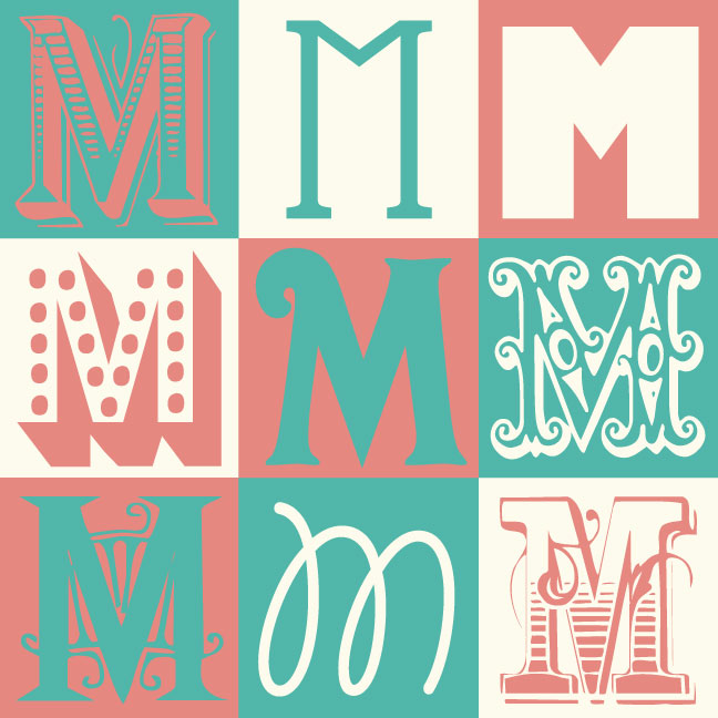Inkblot Paper Designs The Letter M