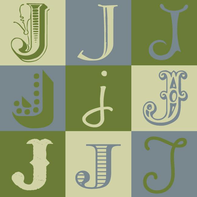 Inkblot Paper Designs: The Letter J