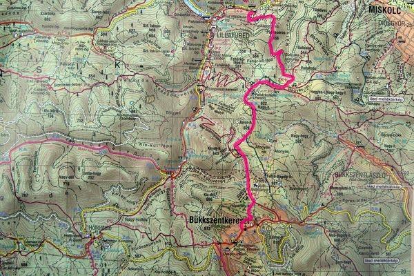 bükkszentkereszt térkép Túrák a Bükkben: Bükkszentkereszt   Fehérkőlápa   Felsőhámor  bükkszentkereszt térkép