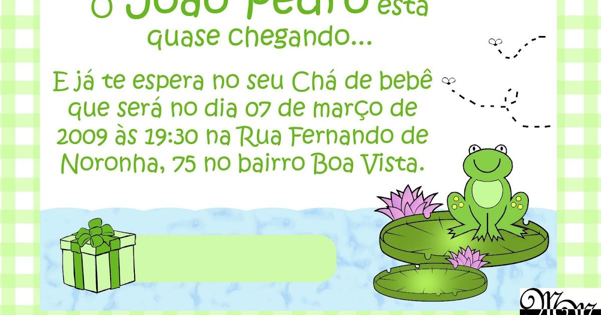 Mm Convites Convites Chá De Bebê Modelo 3