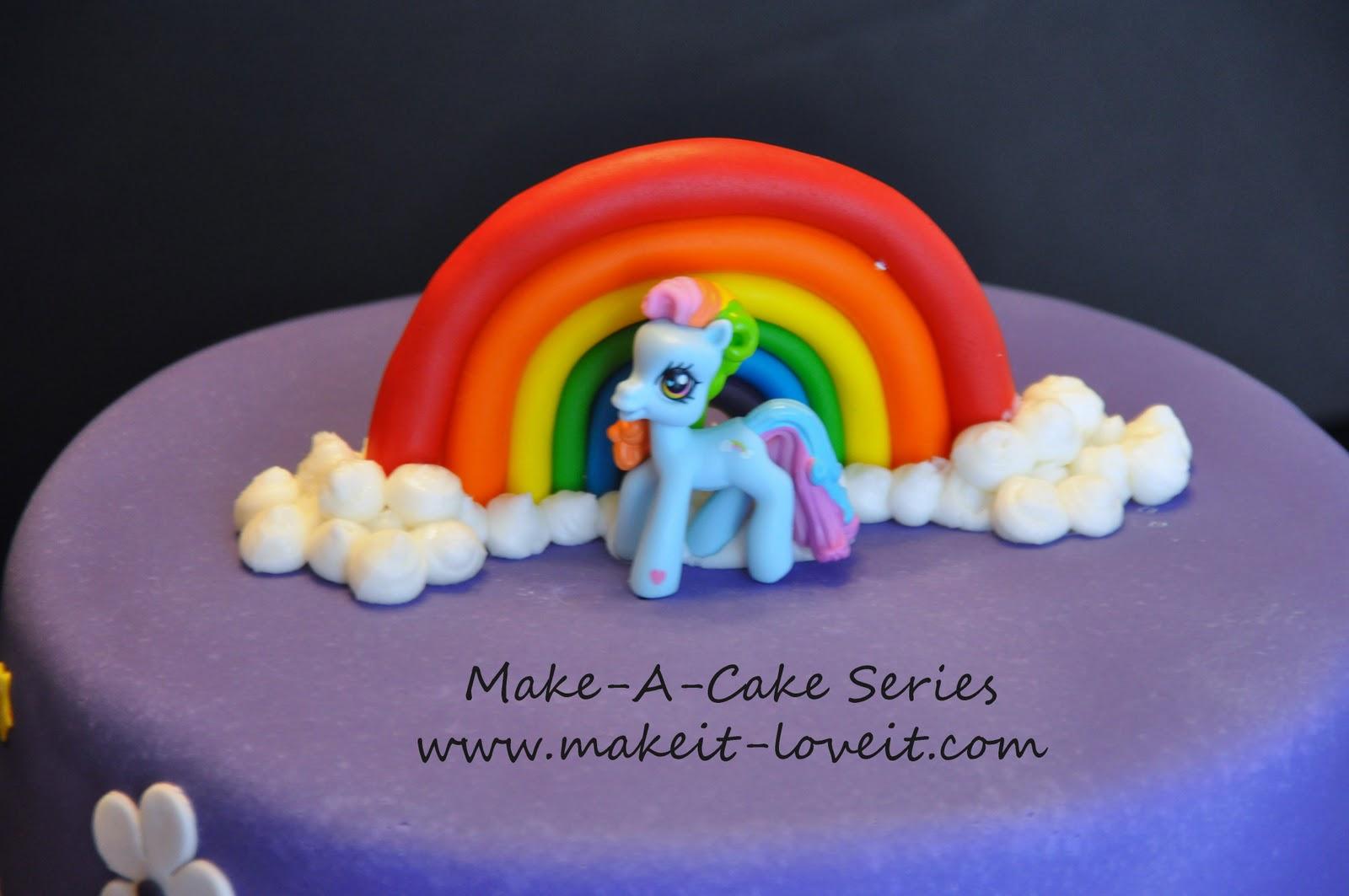 Groovy Make A Cake Series My Little Pony Cake And Rainbow Cookies Funny Birthday Cards Online Kookostrdamsfinfo