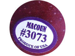 "Generic PLU sticker that reads ""Macount #3073"""