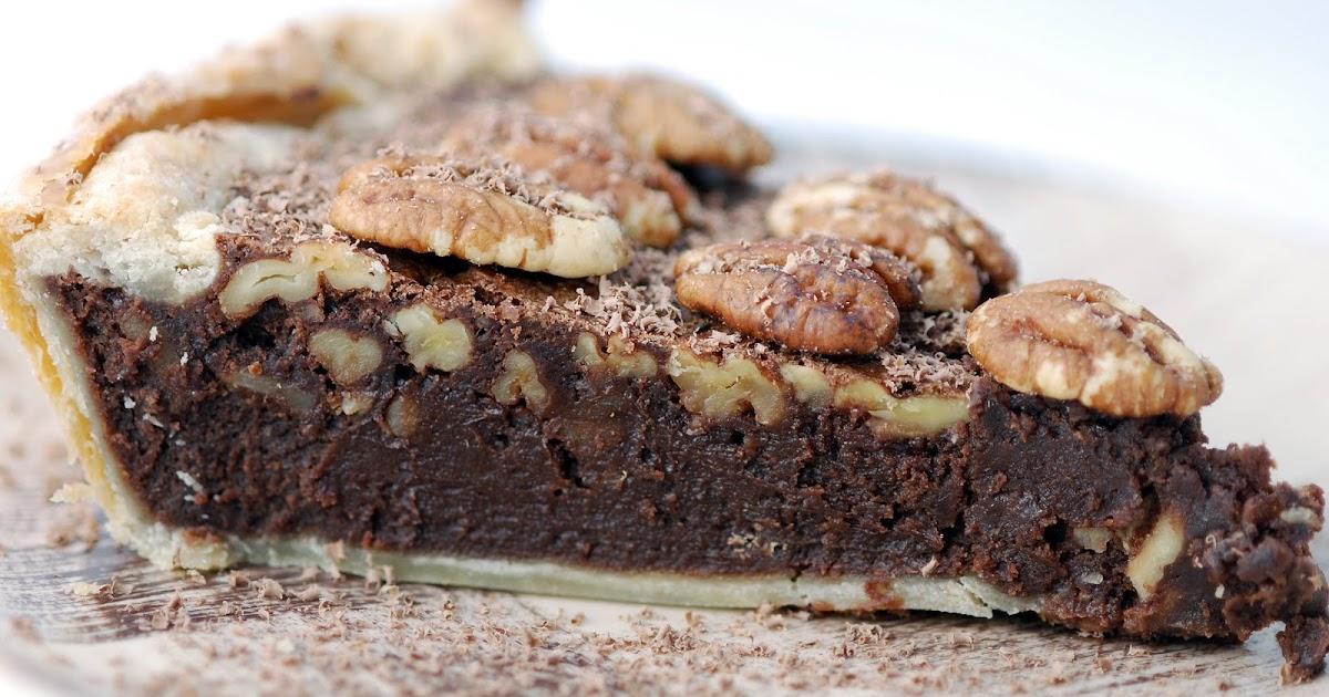 Vegetable Matter Chocolate Pecan Fudge Pie