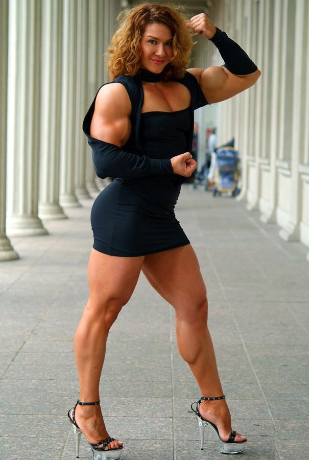 Muscular Womens Dressed Alina Popa-6217