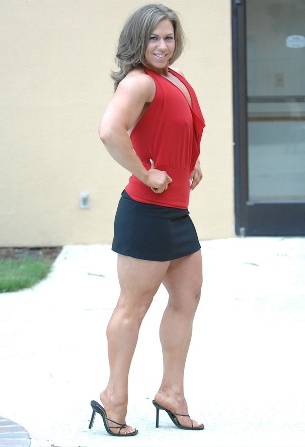 Muscular Womens Dressed: Angie Salvagno.
