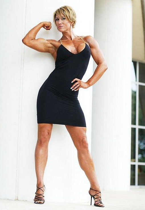 Muscular Womens Dressed Amber Jarrell-6899