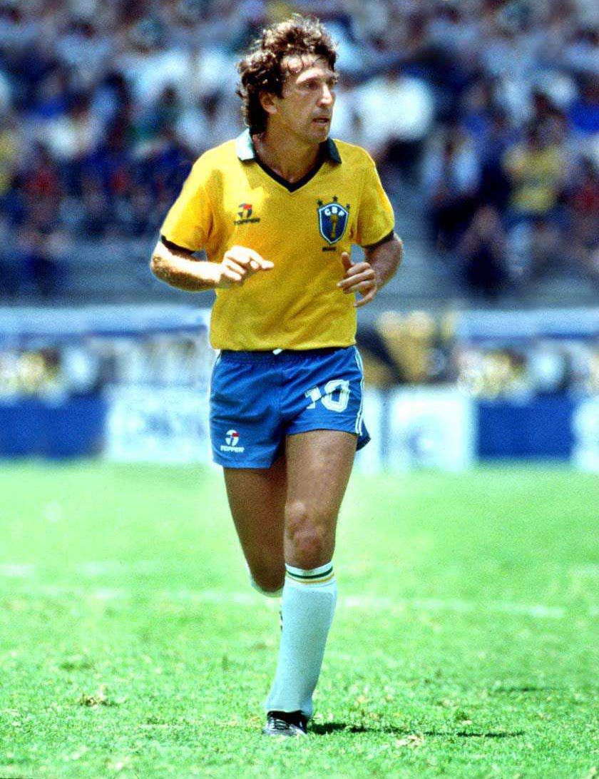 Soccer Players: Vintage World Cup Football: Zico