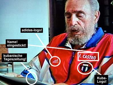 Tía Eliminar Mierda  EL COMPLOT FIFA-ADIDAS: ¿Por qué Fidel Castro usa Adidas?