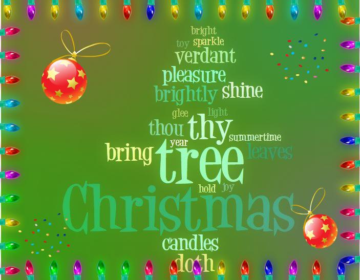 Digital Tools For Teachers: Word Cloud Christmas Card Ideas