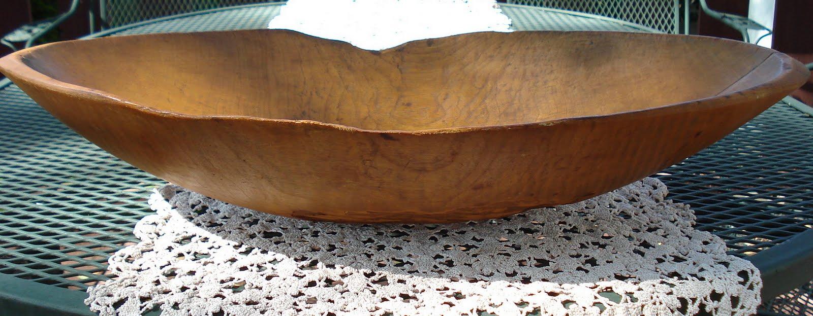 Antique Wooden Bread Bowl   Best 2000+ Antique decor ideas