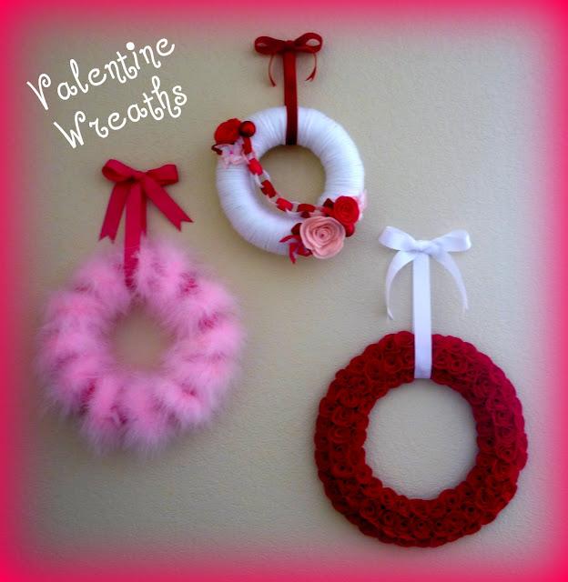 Tutorial for making Valentine wreaths