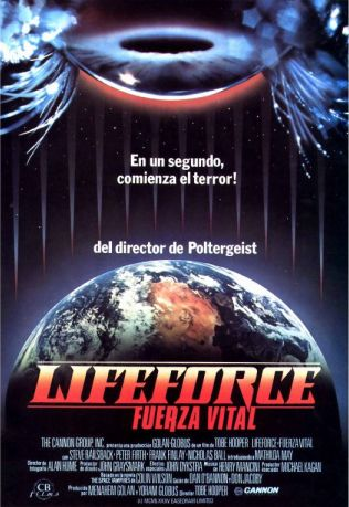 Lifeforce 1985, una película de Tobe Hooper