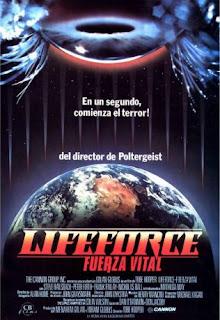 Lifeforce 1985, una película de Tobe Hooper