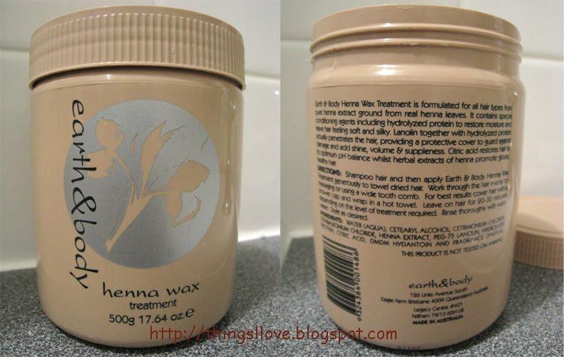 Things I Love Review Earth Body Henna Hair Wax Treatment