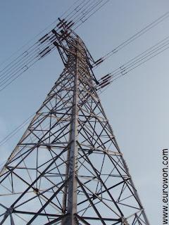 Torre de distribución eléctrica en Corea del Sur