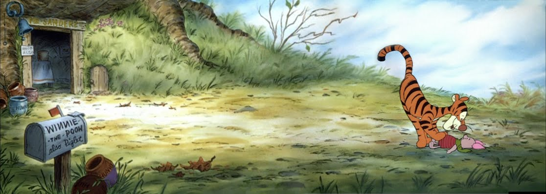 Animation Backgrounds: The Many Adventures of Winnie The Pooh --- Part Two