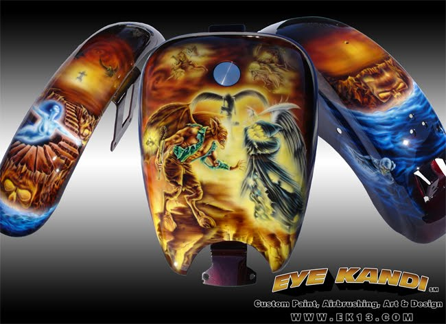 Custom Paint Airbrushing Art Amp Design Battle Of Heaven