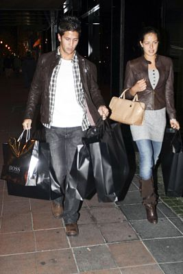 Fernando Verdasco and Ana Ivanovic seen shopping together at the Boss store Madrid, Spain - 11.12.08 **Available for publication in UK. Not for publication in the rest of the world** Credit: WENN
