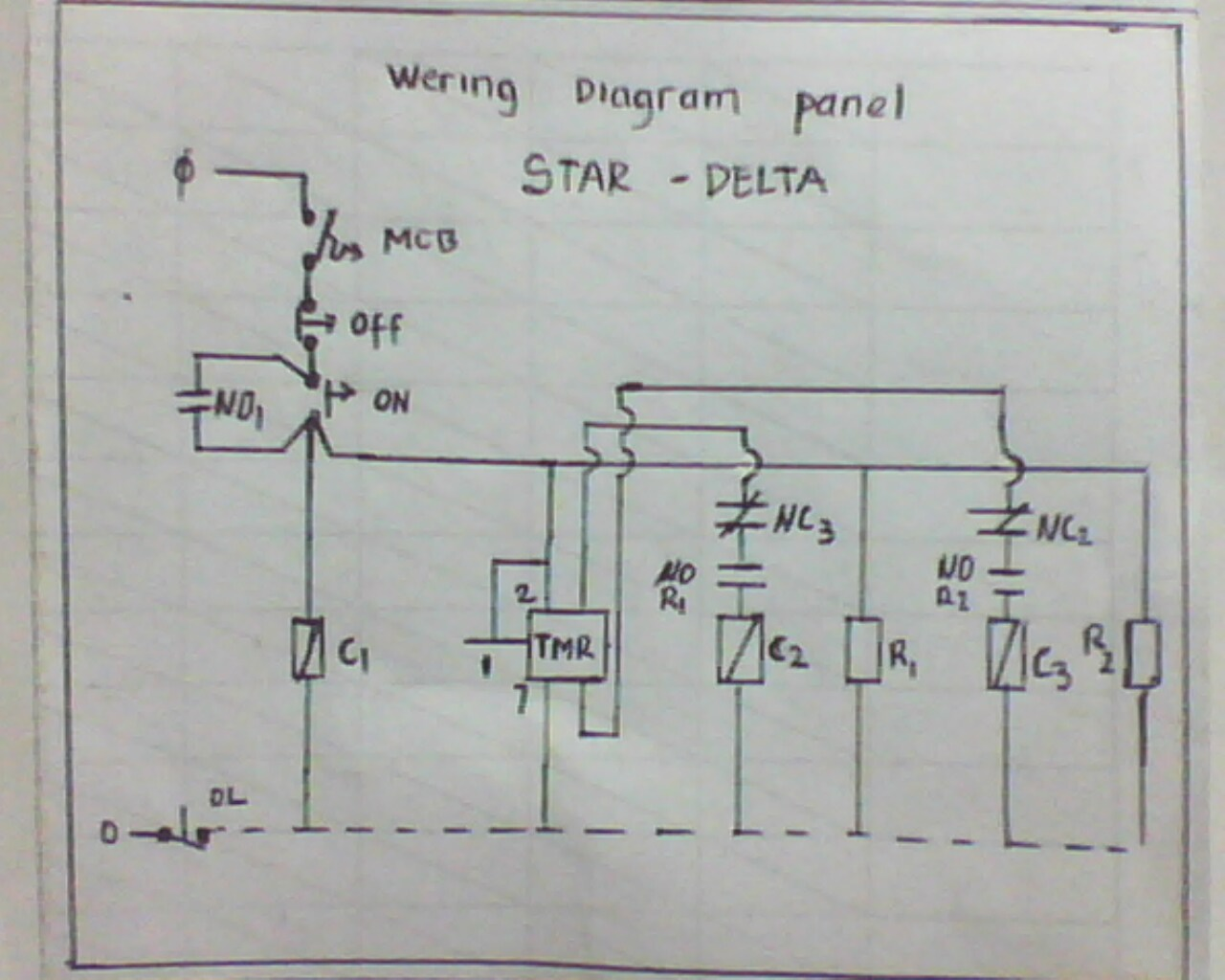 Three Phase Motor Connection Star Delta Without Timer Control Diagram