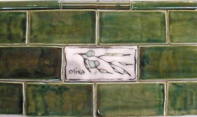 Gorgeous Green Subway Tiles Olive Italian Ceramic Tile