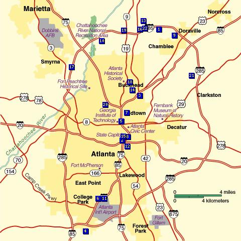 MAP ROAD GEORGIA