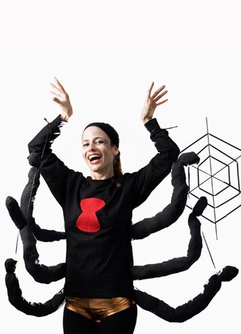 Disfraz de araña negra con tutorial