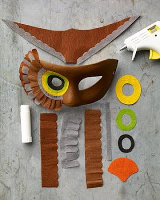 Esta m scara est realizada en papel crep pinocho - Disfraces de buhos ...