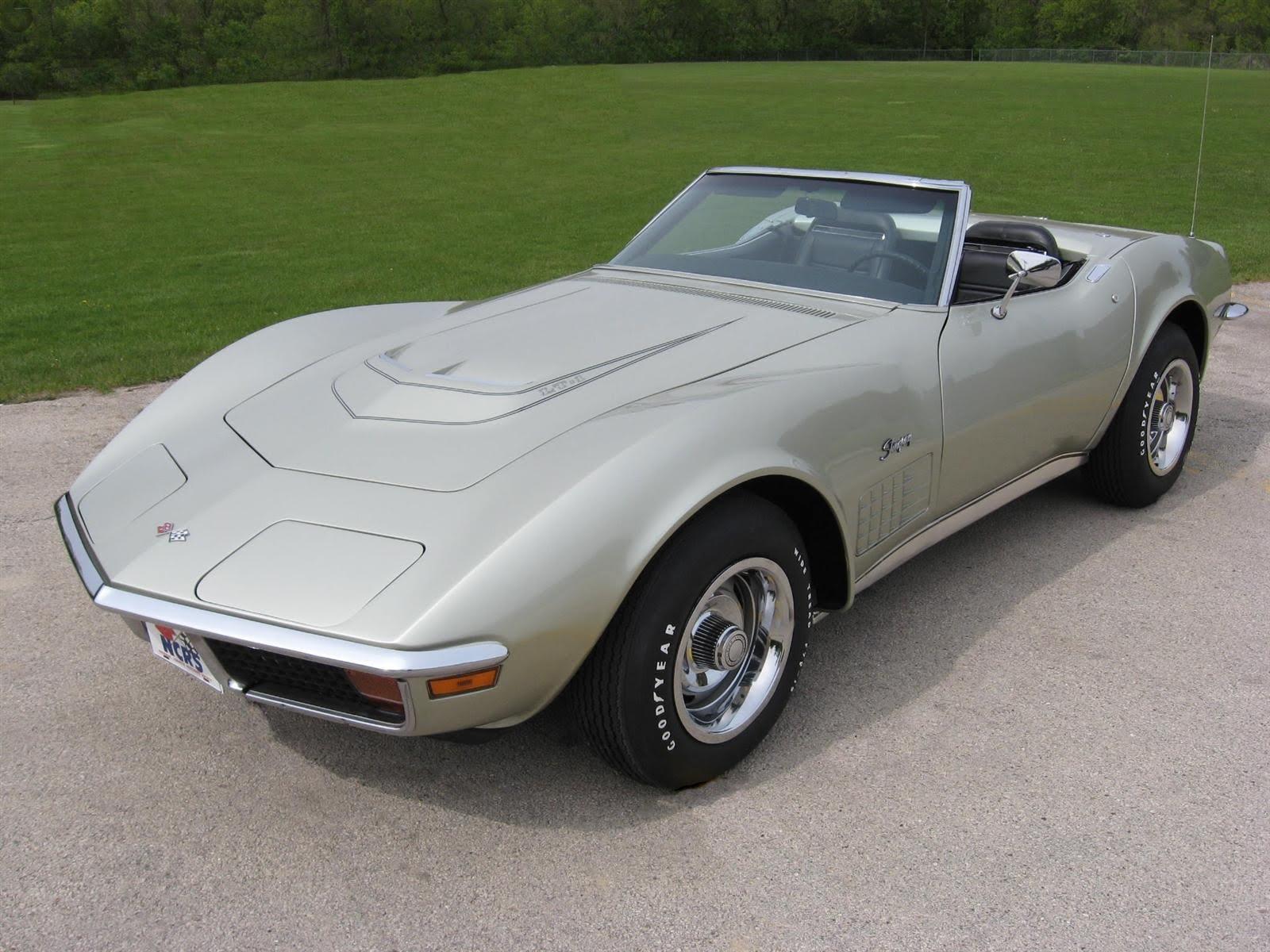 muscle car classics rare 1972 chevrolet corvette lt1 factory a c convertible. Black Bedroom Furniture Sets. Home Design Ideas