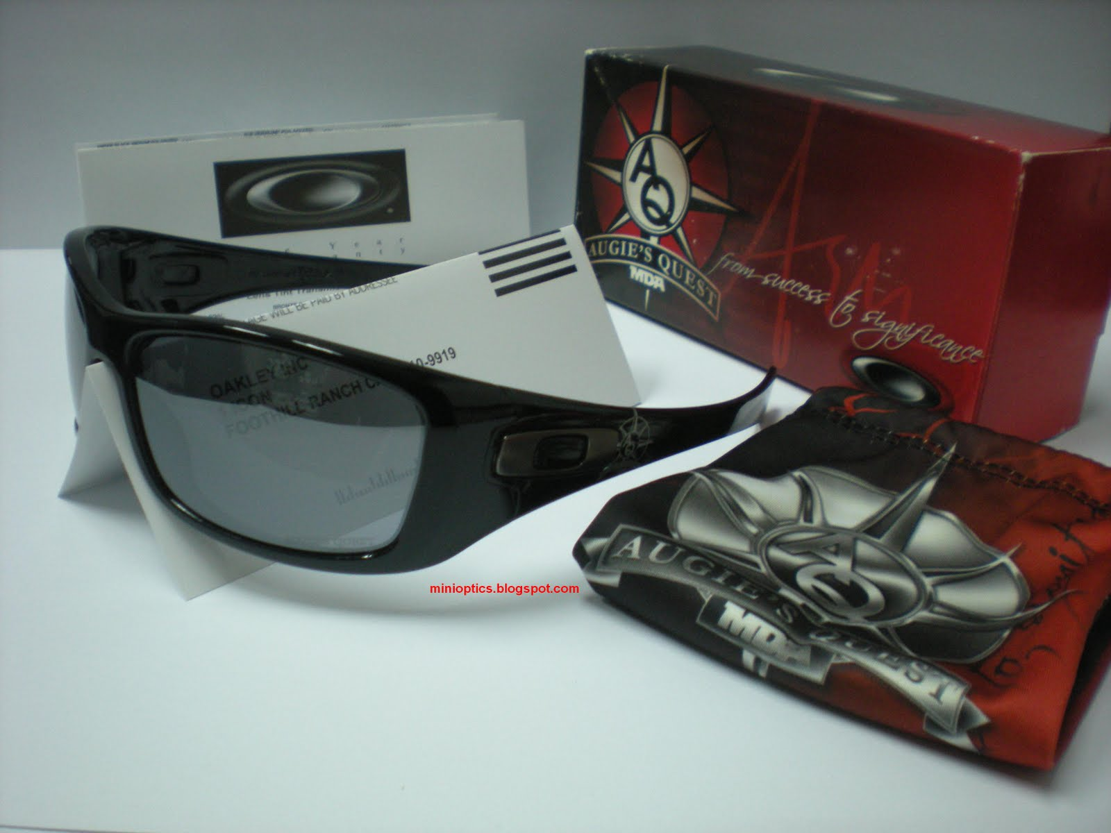 ... Oakley Hijinx Augies Quest Signature Series. SKU 24-053. Polished Black  frame with Black ... 353f9c0f94b