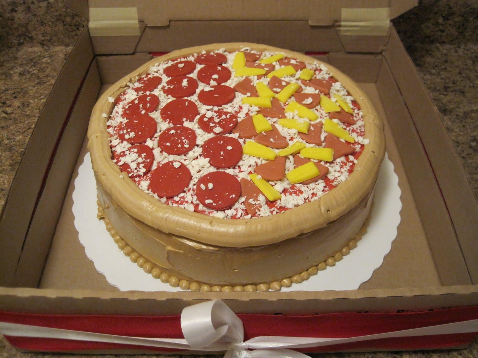 Pizza Happy Birthday Cake