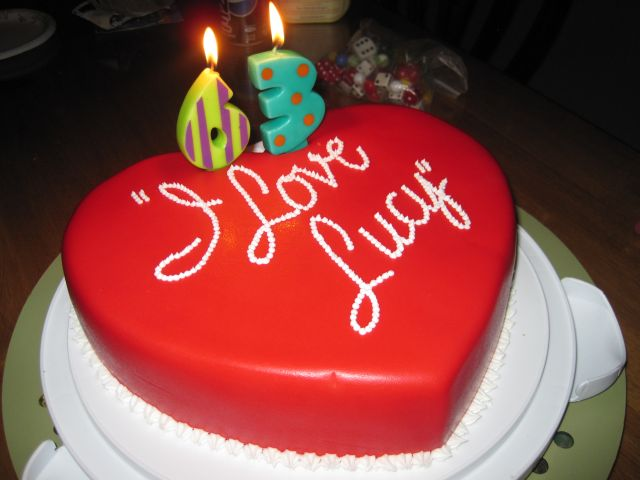Your Happy Baker I Love Lucy Cake Because I Love My Mom