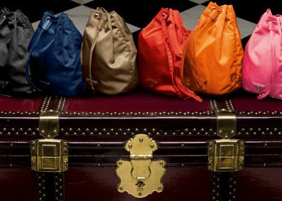 12f0d79086d9 First up, the adorable Prada Vela Drawstring Pouch which comes in 6  stunning colours. Besides the usual suspects (Nero, Baltico and Rovere), ...