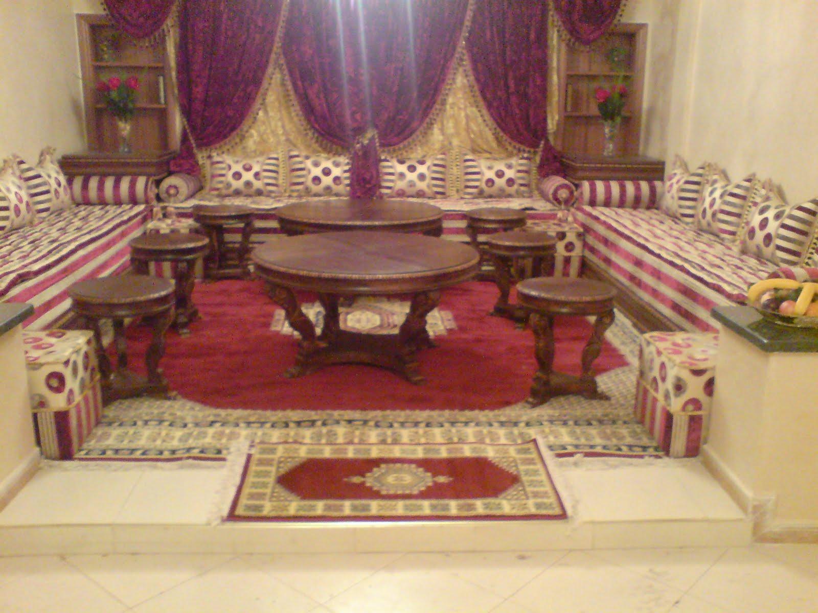 salon marocain moderne. Black Bedroom Furniture Sets. Home Design Ideas